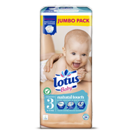 COUCHES LOTUS BABY TAILLE 3 JUMBO PACK X58