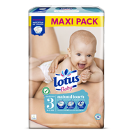 COUCHES LOTUS BABY TAILLE 3 MAXI PACK X74