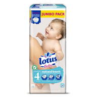 COUCHES LOTUS BABY TAILLE 4 JUMBO PACK X54