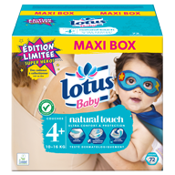 COUCHES LOTUS BABY TAILLE 4+ MAXI BOX X72