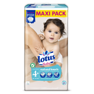 COUCHES LOTUS BABY TAILLE 4+ MAXI PACK X60