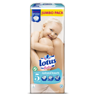COUCHES LOTUS BABY TAILLE 5 JUMBO PACK X50