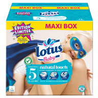 COUCHES LOTUS BABY TAILLE 5 MAXI BOX X72