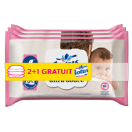 LINGETTES LOTUS BABY ULTRA DOUCE LOT X3