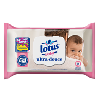 LINGETTES LOTUS BABY ULTRA DOUCE X56
