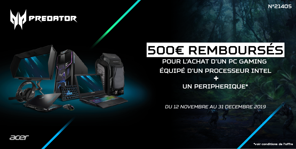 Gaming Notebook ou Desktop + Accessoires (Predator&Nitro)