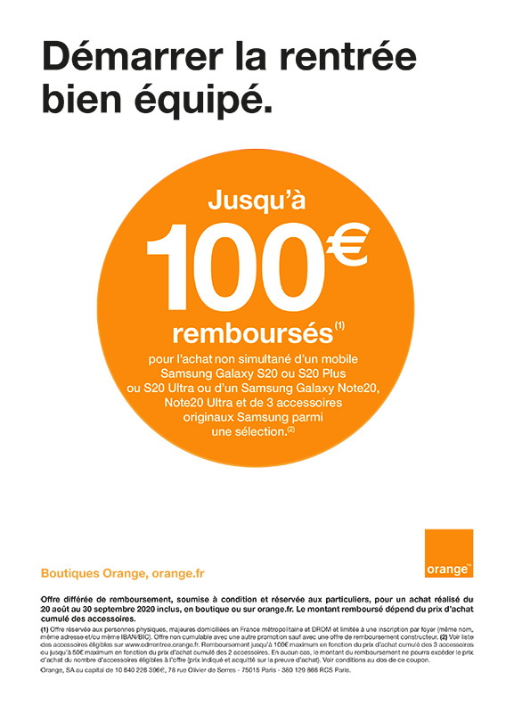 Orange Samsung Rentrée
