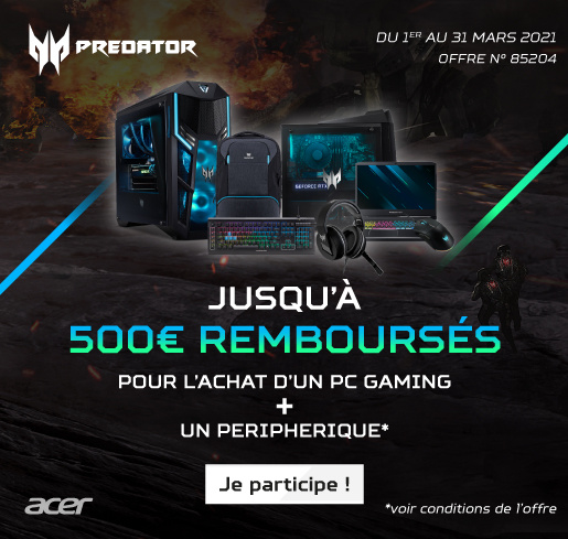 ODR Q1 2021 Bundle Gaming Predator Acer